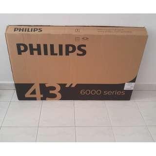 "43"" Philips Empty TV Box 6000 Series"