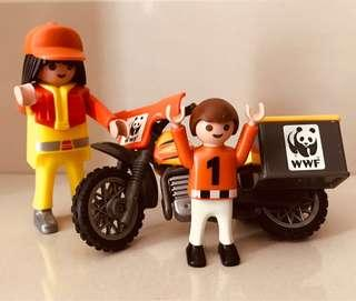 Playmobil Motorbiker and Child