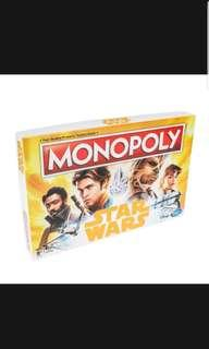 Pre Order Monopoly Game Star Wars Edition