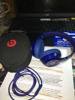 Beats Solo 2, wired, limited edition blue