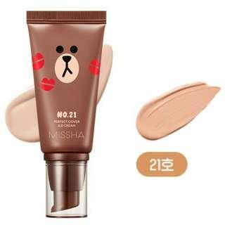 MISSHA 💢Missha x Line💢 Perfect Cover BB Cream 50ml 完美亮白抗皺BB乳霜