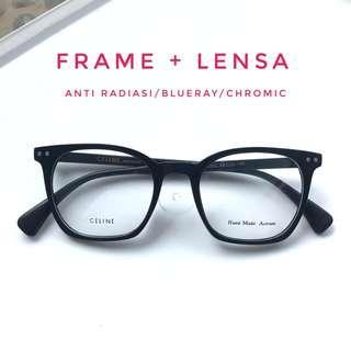 Frame kacamata minus anti radiasi blue ray photocromic celine 5302
