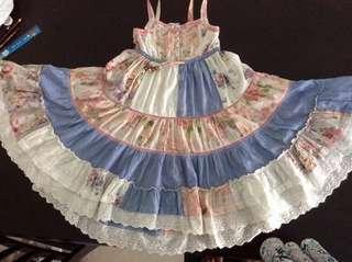 Umbrella boho dress