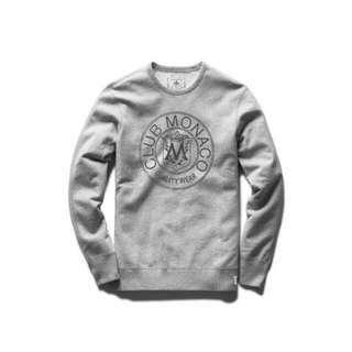 Club Monaco Heritage Crest Sweatshirt sz XS
