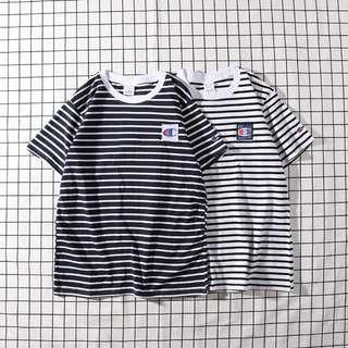 ✨champion ringer striped tee hip hop streetwear