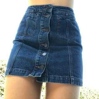 Topshop Moto Denim Skirt #swapAU