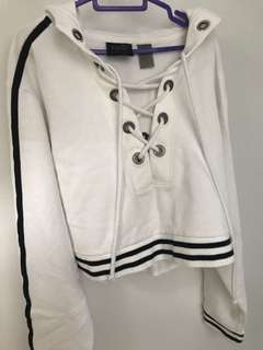 5c3db9e838f8f2 Fenty x Puma Lace up cropped hoodie