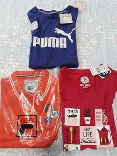 Women's tee and polo shirts (Fila, Bossini only)