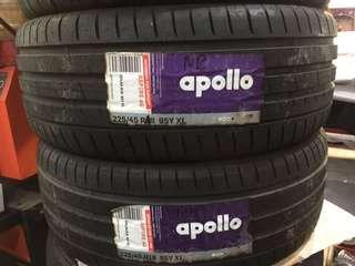 225/45/18 Apollo tyre for sale