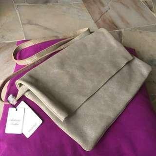 Mango MNG leather flap slingbag