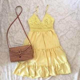 Self tie back dress