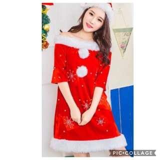 IN STOCK Santarina dress santarina costume Santa Claus costume Santa Claus dress Christmas dress Christmas costume