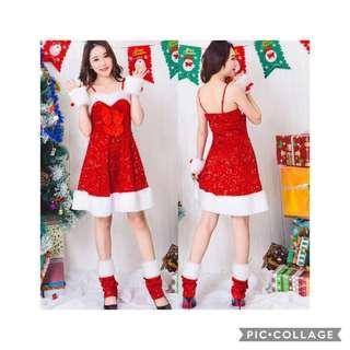 IN STOCK Santarina dress santarina costume Santa Claus costume Christmas costume Christmas dress red dress
