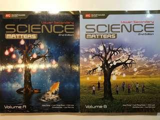 Science matters textbook Volume A and B