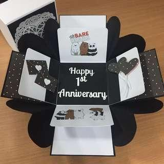 Customised Explosion Box Card for Anniversary