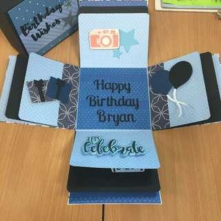 Customised Explosion Box Card for Birthday