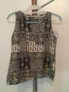 Batik Sleeveless Top
