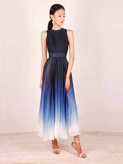 Theory of Seven Bernadette Midnight Blue Ombre Dress