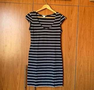 H&M Navy Striped Dress (S)
