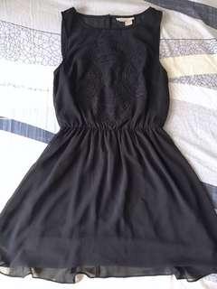 DIVIDED by H&M Black Chiffon Sleeveless Dress 雪紡背心裙