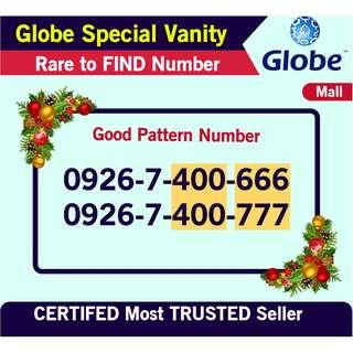 Globe SIm Special Good Pattern iphone couple Number rare to FIND