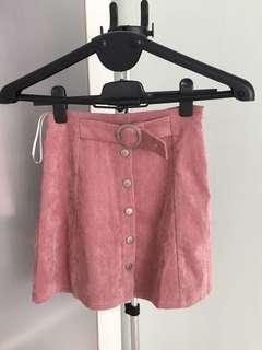 ZALORA A-Line Bottom Down Style Mini Skirt