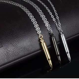 Gunmetal Black Bullet Chain Necklace (INSTOCK)