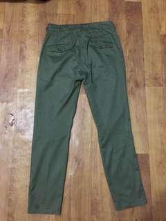 Chino celana chino warna hijau