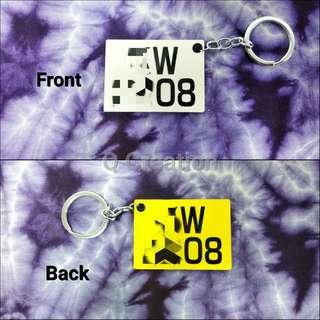 雙面車牌鎖匙扣