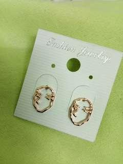 Abstract Human Face Earrings