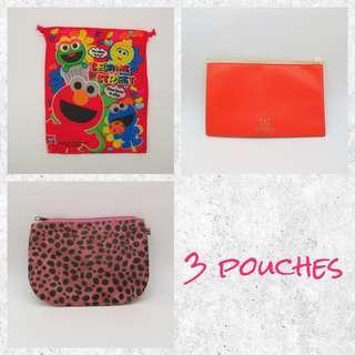 [NEW] 3個細袋 Little Pouches x 3 (Sesame Street)