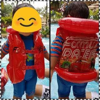 Lighting Mcqueen inflatable swimming vest float