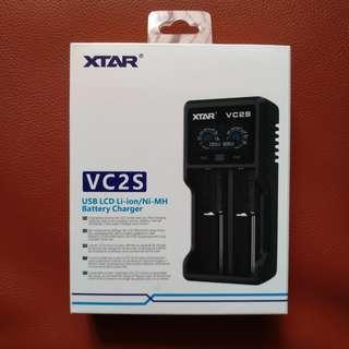 XTAR VC2S USB Li-ION/Ni-MH 16340 18350 18650 20700 21700 26650 AA AAA Battery Charger