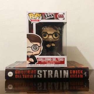 Pop! Funko with Book - Ad Icon (Guillermo Del Toro) + The Strain Book 1