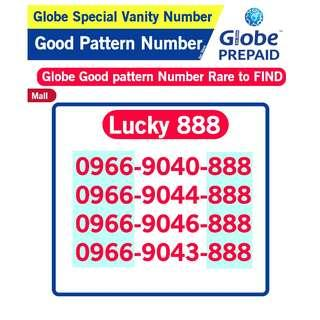Globe Sim Special Vanity Number Good patter Number B7