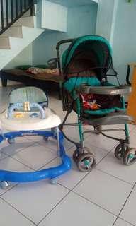 Baby walker dan stroler