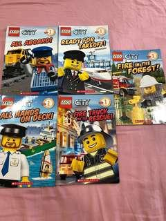 Lego city readers and books (13 books)