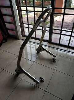 Paddock stand stainless steel