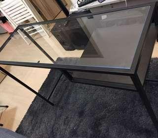 宜家電腦枱工作檯長方形玻璃簡約時尚