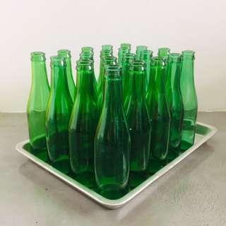 20 X Green Bottle