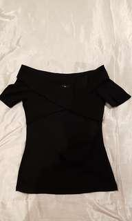 Dotti Black Sweetheart Top S