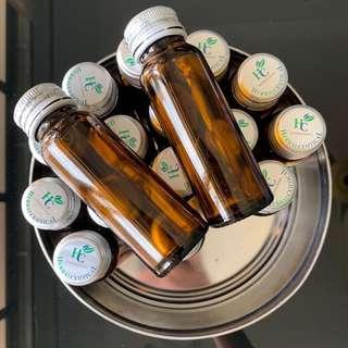 50ml Brown Glass Bottle 20pcs