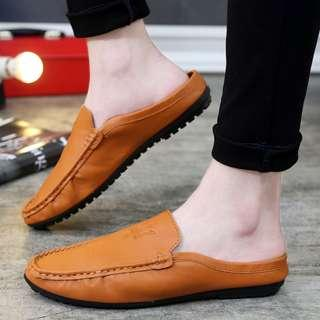 Soft PU Leather Men Loafers / Sandals