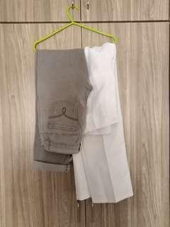 Grey pants/white formal pants