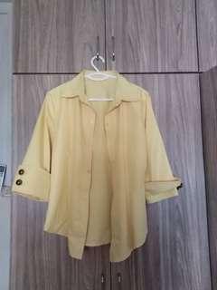 Yellow/pink blouse