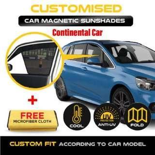 Custom Fit Magnetic Car Sunshade- Continental/Japanese/Korean/ Cars!!