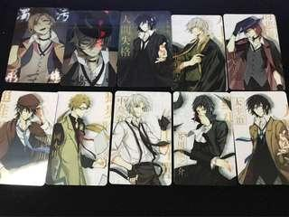 Bungo stray dogs set of 10 card stickers V2