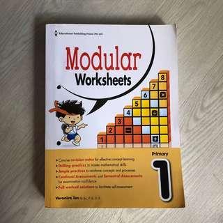 Primary 1 Maths modular worksheets