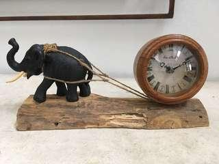 Clock with Elephant