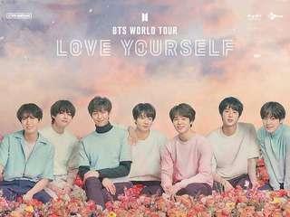 BTS Love Yourself in Hong Kong concert ticket